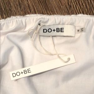 do + be Tops - Do + Be Off the Shoulder White Blouse NWT